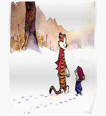calvin and hobbes Snow Poster