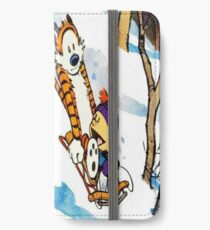 calvin and hobbes happy snow iPhone Wallet/Case/Skin
