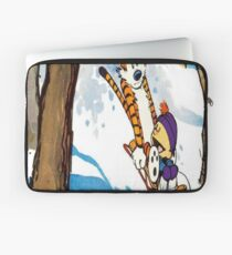 calvin and hobbes happy snow Laptop Sleeve