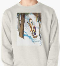 calvin and hobbes happy snow Pullover