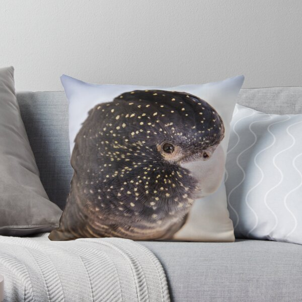 Female Red Tailed Black Cockatoo  Throw Pillow