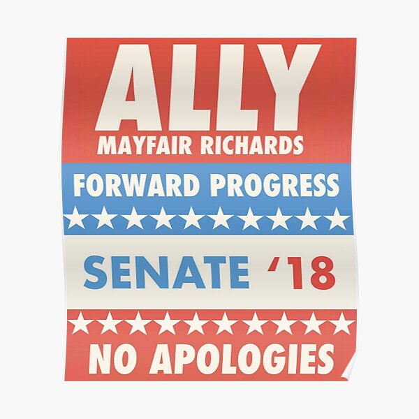 Ally Mayfair Richards Campagne Merch # 1 Poster