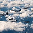 B-1Bs had taken off from Guam to do live fire exercises with our Japanese and Korean allies. by Laura Puglia