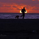 Sunset Run With Best Friend by Clayton Bruster