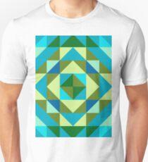Pattern -3, Blue Emerald T-Shirt