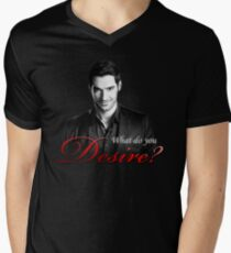 Lucifer Morningstar - What do you desire? Men's V-Neck T-Shirt