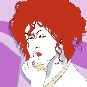 Cyndi Lauper in Red and Purple by MogPlus