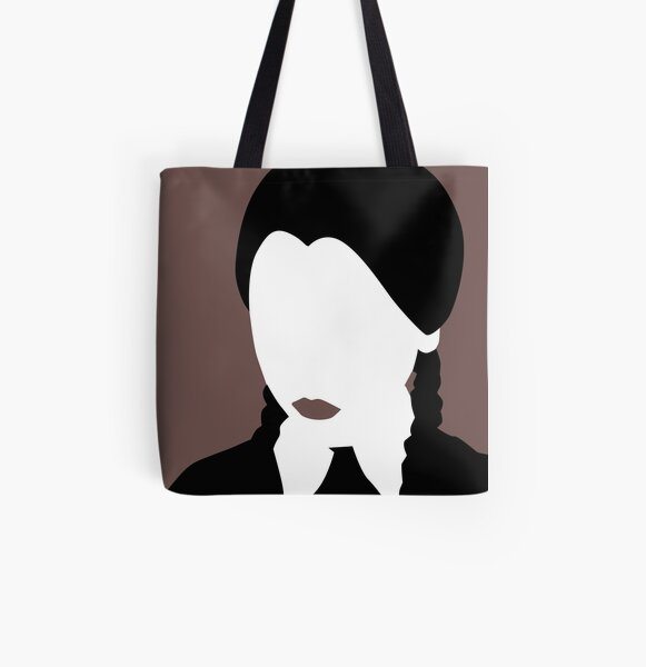 Wednesday Addams from The Addams Family All Over Print Tote Bag