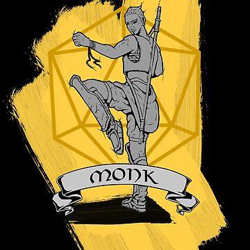 D&D Class - Monk by explosivebarrel
