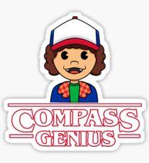 DUSTIN THE COMPASS GENIUS Sticker