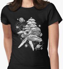 Weltraum-Wal Tailliertes T-Shirt für Frauen