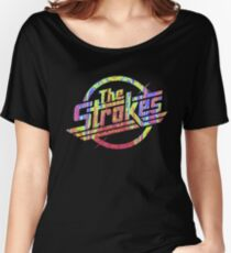 The Strokes - Psychedelic Logo Women's Relaxed Fit T-Shirt