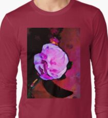 Still Life with a Pink Flower and a Black Leaf T-Shirt