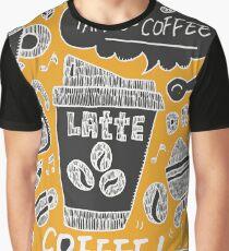Coffee Latte Caffeine Tshirt Doodle Graphic T-Shirt