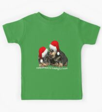 Santa Paws Is Coming To Town Kids Tee