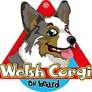 Welsh Corgi On Board - Cardigan by DoggyGraphics