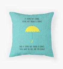 HIMYM-Yellow Umbrella Throw Pillow