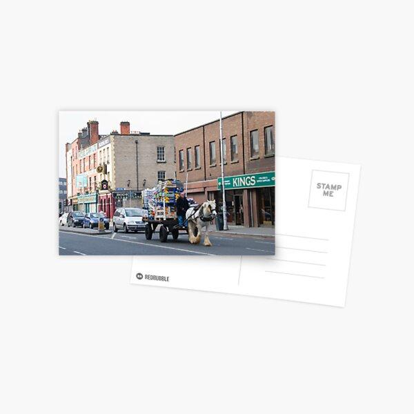 Dublin Traffic Jam Postcard