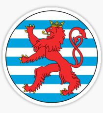 Luxembourg Air Force Roundel Sticker