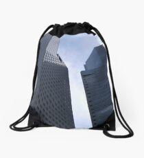 Jigsaw buildings Drawstring Bag