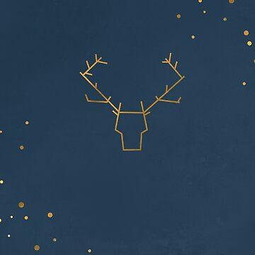 minimalist reindeer by HelenCat