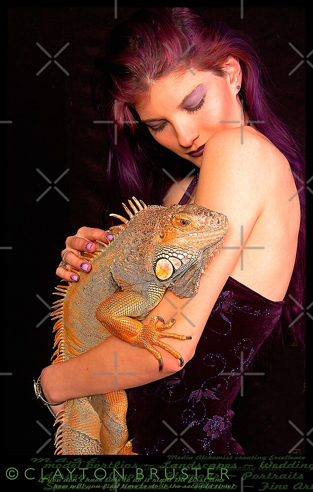 BIG Iguana by Clayton Bruster