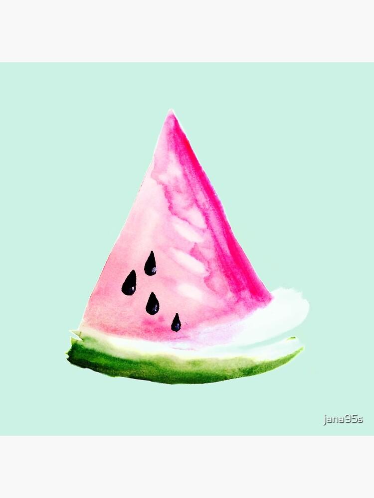 Watercolour Watermelon von jana95s