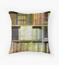 Antique Books Throw Pillow