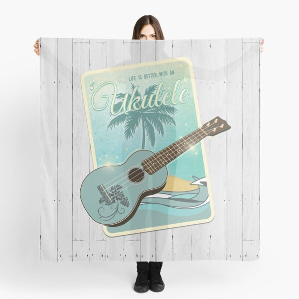 Life is better with an ukulele Scarf