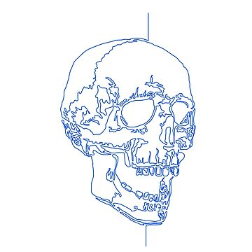 Single line skull design by cloudsbride