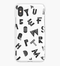 Latin ABC monochrome pattern iPhone Case/Skin