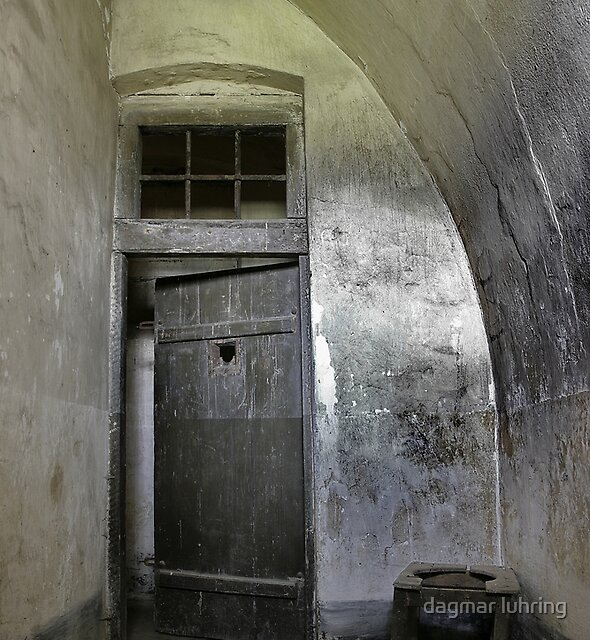 reclusion cell in the gestapo camp in Terezin by dagmar luhring