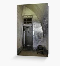 reclusion cell in the gestapo camp in Terezin Greeting Card