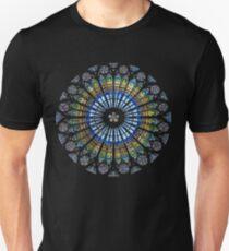 Strasbourg Cathedral France Mandala Stained Glass Window Art T-Shirt Unisex T-Shirt