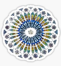 Strasbourg Cathedral France Mandala Stained Glass Window Art T-Shirt Sticker