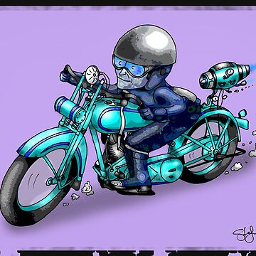 MOTORCYCLE CLASSIC HARLEY STYLE by squigglemonkey