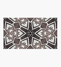 Leather snowflakes,  Black, gray, white, hand stitched - Winter Theme Photographic Print
