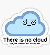 There Is No Cloud - Disapproval Face Sticker