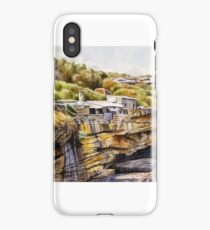 Crater Cove Huts Watercolour Painting iPhone Case/Skin