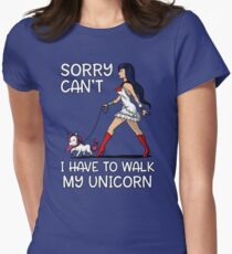 Sorry Can't I Have To Walk My Unicorn Funny Magical T-Shirt