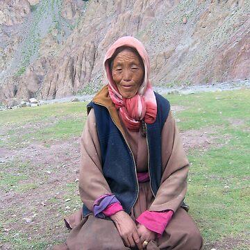 an old tibetin lady by hezyakri
