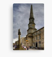 Mercat Cross and Guildhall Canvas Print