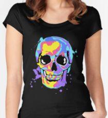 The artist's skull Women's Fitted Scoop T-Shirt
