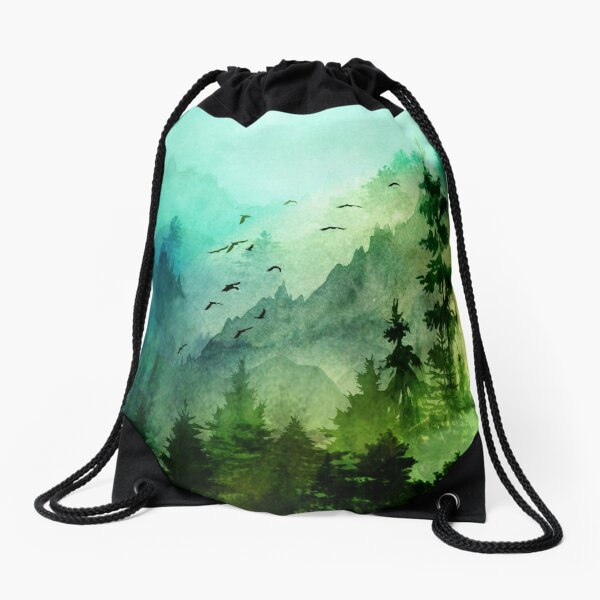 Mountain Morning  Drawstring Bag