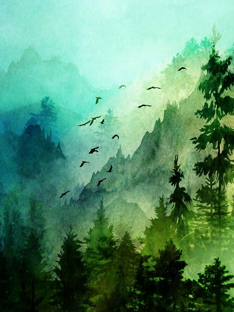 Mountain Morning  by Nadjaa