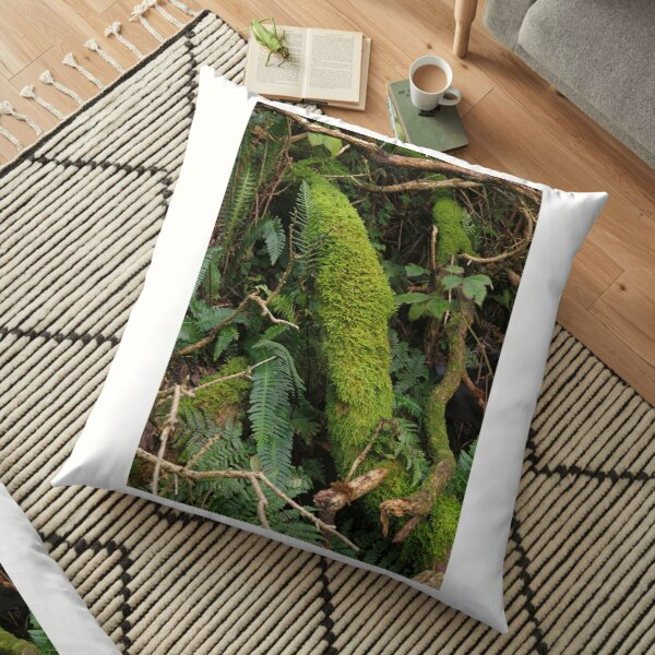 Riverside greenery Floor Pillow