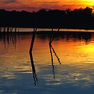 Colonial Beach Sunset by Clayton Bruster