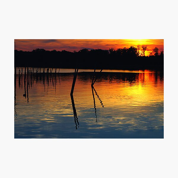 Colonial Beach Sunset Photographic Print