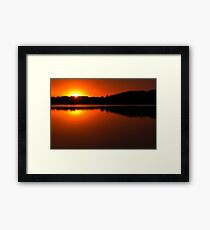 Colonial Beach Sunset Framed Print