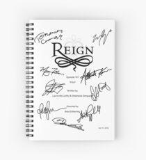 Reign Script Spiral Notebook